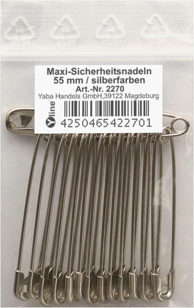 sl 36 St/ück Mini Sicherheitsnadeln wei/ß ca.19 mm Sicherheits- Nadel Nadeln 3017