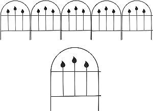 """VOTENVO Decorative Garden Fence 18""""x 13""""x 5Pack Metal Garden Leaf Fence Border Garden Fencing, Animal Barrier Wire Fence for Yard, Decorative Garden Fencing Panels Animal Barrier Outdoor Fencing"""