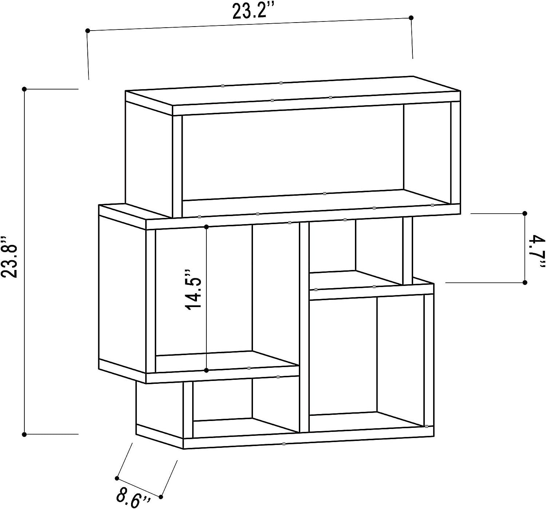 Ada Home Décor Schultz Side Table 23.82'' x 22.53'' x 8.66'' Light Mocha &