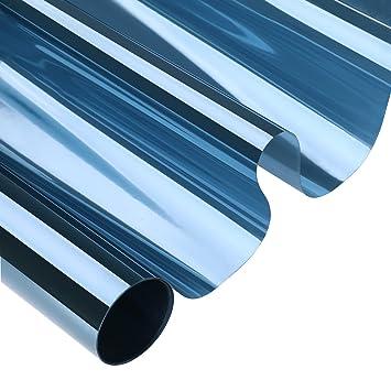 Kinlo 75cm X 300cm Transparent Blau Sonnenschutzfolie Fur Fenster