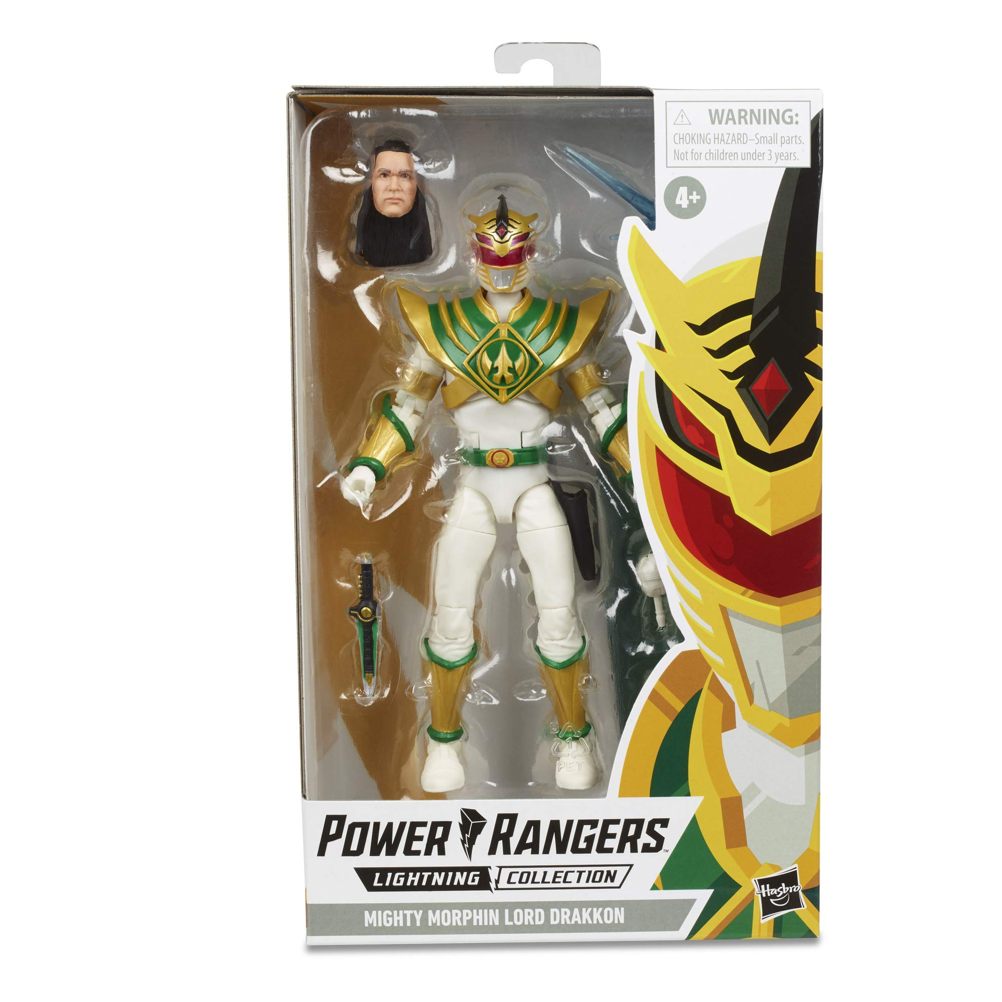 "Power Rangers Lightning Collection 6"" Mighty Morphin Lord Drakkon Collectible Action Figure Toy Inspired by Shattered Grid Comics"