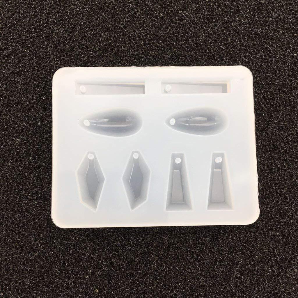 8 Designs Schmuckherstellung Silikonform Geometrische Anhä nger Form mit Loch fü r Polymer-Ton, Kunstharz, Epoxidharz, Ohrringe, Halsketten, DIY Unbekannt