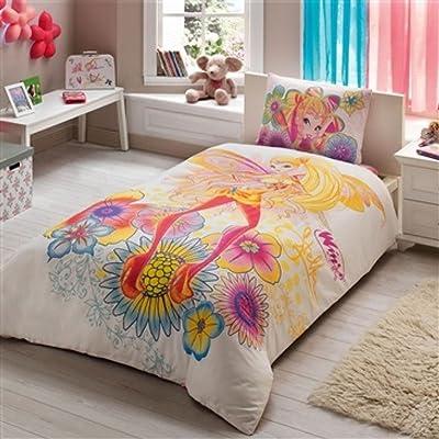 Disney Winx Magic Stella Girl's Duvet/Quilt Cover Set Single / Twin Size Kids Bedding: Home & Kitchen