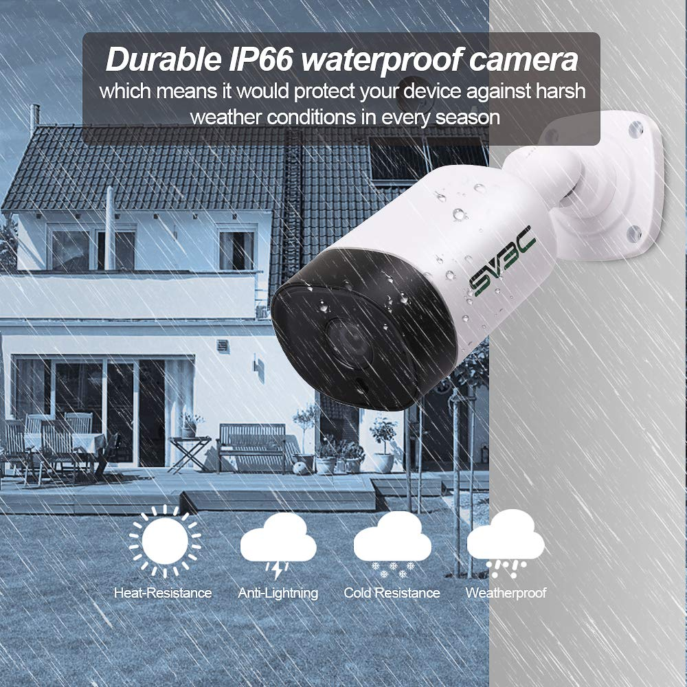 IP POE Camera, SV3C 5 Megapixels HD Security IP Camera Outdoor Indoor Video Surveillance, Outdoor POE Camera System Support Onvif, IR Night Vision, Motion Detection, Waterproof, Remote Viewed by sv3c (Image #5)