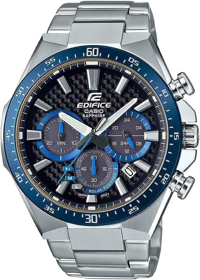 CASIO Reloj Cronógrafo para Hombre de Energía Solar con Correa en Acero Inoxidable EFS-S520CDB-1BUEF