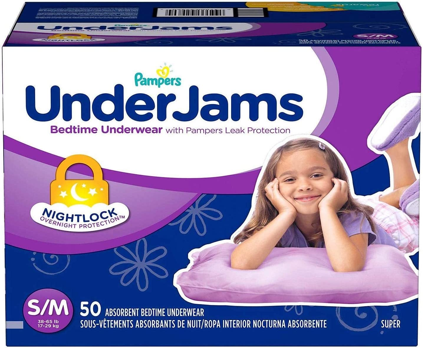 Pampers UnderJams Disposable Bedtime Underwear for Girls Size L//XL 42 Count