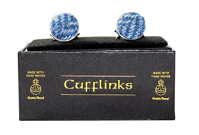 9eb5e00368da Harris Tweed Cufflinks (Herringbone Denim)  Amazon.co.uk  Clothing