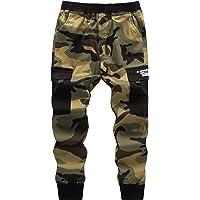 Loveternal Pantalones para niños Camuflaje Pantalones Pantalón de chándal Ajustados Deportivos de Pantalones Cargo…