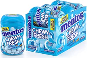 MENTOS 1 Chewy & Fresh - Peppermint - 6 Count, Peppermint, 6 Count