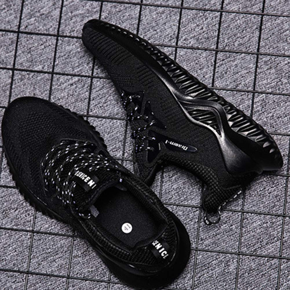 XIGUAFR Chaussure de Course Running en Textile Respirant L/éger Homme de Sport en Plein Air Chaussure a Lacet Casual Antid/érapant