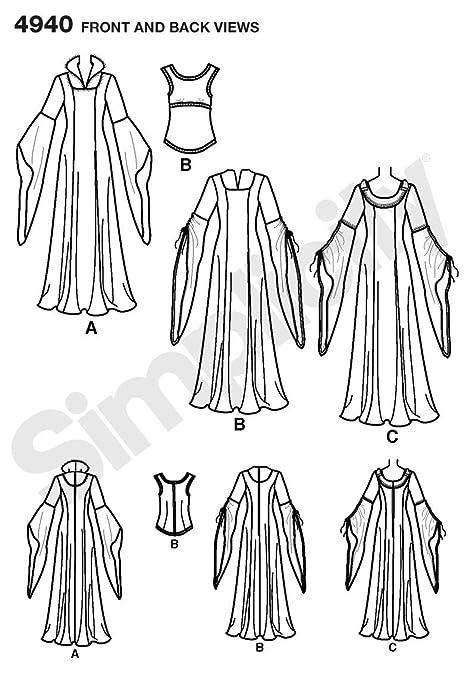 Simplicity 4940 - Patrones de costura para disfraces de mujer Tienda ...