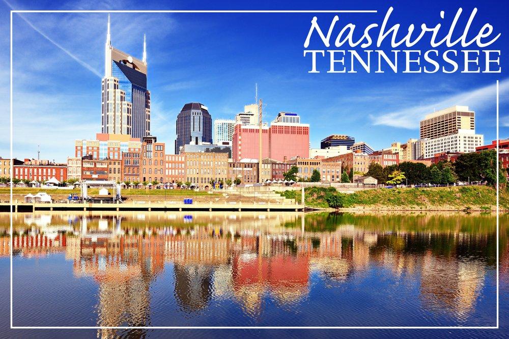 ナッシュビル、テネシー州 – Day 36 x 54 Giclee Print LANT-49696-36x54 36 x 54 Giclee Print  B017E9UKJA