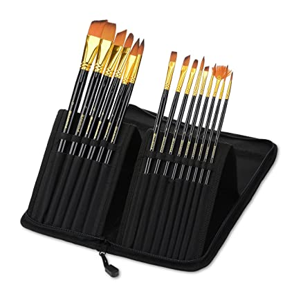 amazon com acrylic paint brush set of 15 best oil watercolor