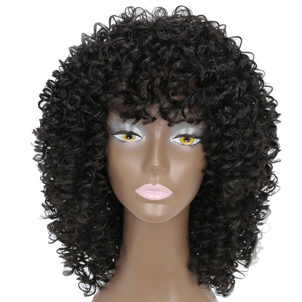 Amazon.com : Becoler Short Curly Wavy Wigs