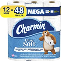 Charmin Ultra Soft Toilet Paper, 12 Mega Rolls (Equal to 48 Regular Rolls)