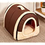 Cosy Weiche Hundebett Hundehaus Hundehöhle Haustier Bett Warm Schlafsack Korb hundehütte mit Ablösbar Kissen Matte für Hunde, Katzen