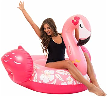 Remarkable Giant Inflatable Flamingo Pool Float Happytime 2019 Upgrades Flamingo Swimming Pool Float Lounger With Rapid Valves Summer Outdoor Party Lounge Raft Creativecarmelina Interior Chair Design Creativecarmelinacom