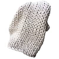 Routinfly coperta Hand Chunky, voluminosa, di lana spessa, realizzata a maglia