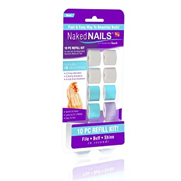 Amazon.com : Naked Nails Refills Replacement Parts Buffers, Files ...
