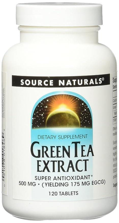 Source Naturals - Magnesio verde del extracto 500 del té. - 120 tabletas