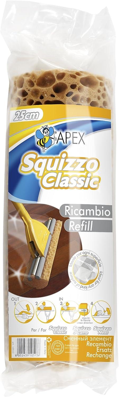 25 cm per Squizzo Classic Squizzo Apex 10513 Spugna Ricambio per Lavapavimento