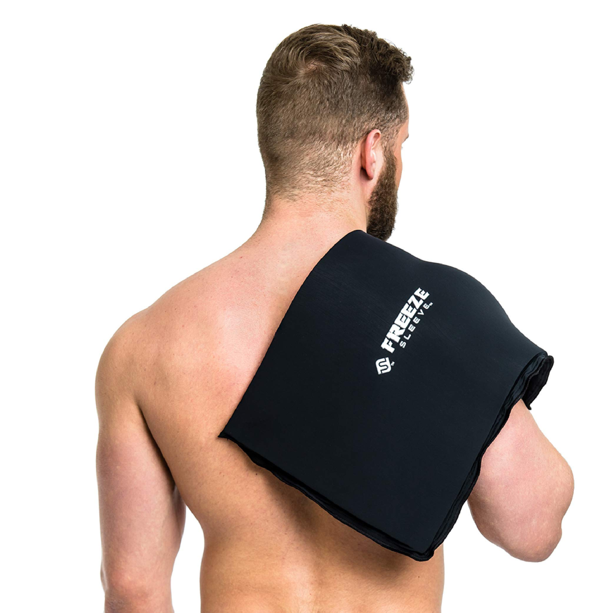 FreezeSleeve Flat Pak - 12'' x 17'' Cold Therapy Treatment- Black by FreezeSleeve