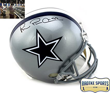 "a44d804a74c Michael Irvin Autographed/Signed Dallas Cowboys Riddell Full Size NFL  Helmet with ""Playmaker"""