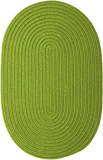 "product image for Colonial Mills Boca Raton Bright Green Runner 2'0""x6'0"" Braided Area Rug"