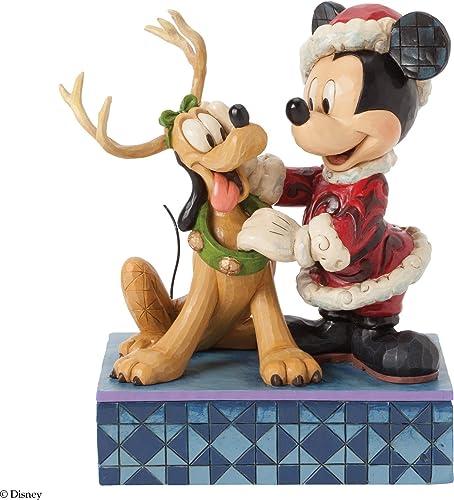 Jim Shore for Enesco Disney Traditions by Santa Mickey with Pluto Figurine