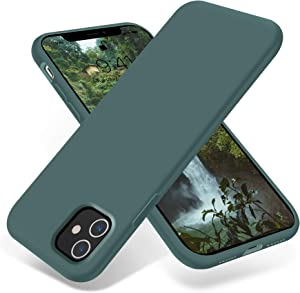 OTOFLY iPhone 11 Case,Ultra Slim Fit iPhone Case Liquid Silicone Gel Cover with Full Body Protection Anti-Scratch Shockproof Case Compatible with iPhone 11 (Pine Green)