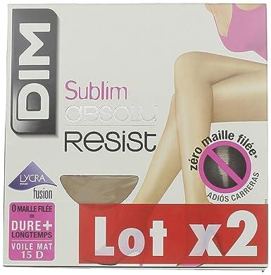 Dim Sublim Absolu Resist - Collants - Lot de 2 - 15 deniers - Femme  Amazon. fr  Vêtements et accessoires e04fb93661b