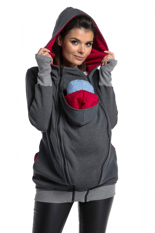 7d7f352a9d1 Zeta Ville - Women s Maternity Sweatshirt Hood Removable Panels ...