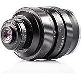 Zhongyi Mitakon 20mm f / 2 4.5X Obiettivo Super Macro per fotocamera Canon M EF-mount con Custodia TARION