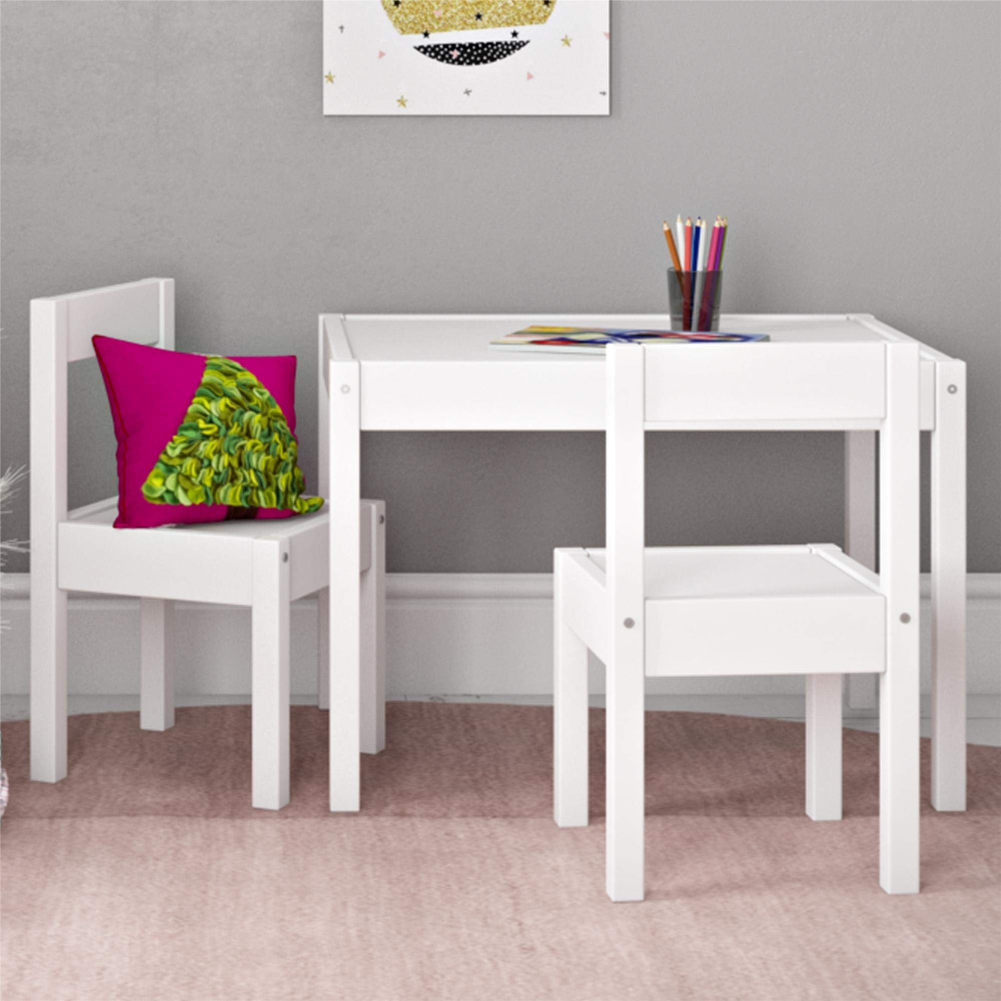 Baby Relax Hunter 3 Piece Kiddy Table and Chair Set, White by Baby Relax