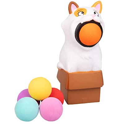 Hog Wild Kitty Cat Popper Toy - Shoot Foam Balls Up to 20 Feet - 6 Balls Included - Age 4+: Toys & Games
