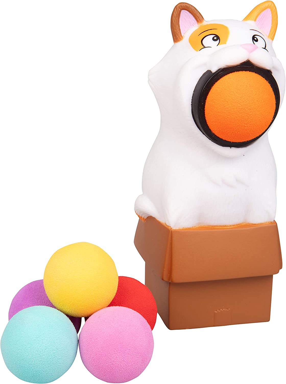 Hog Wild Kitty Cat Popper Toy - Shoot Foam Balls Up to 20 Feet - 6 Balls Included - Age 4+