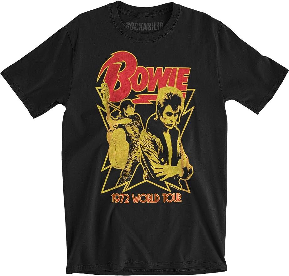 Official DAVID BOWIE Vintage World Tour 1972 Tee unisex T Shirt S M L XL XXL 2XL