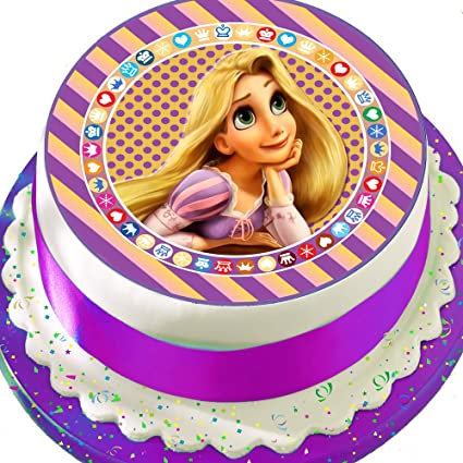 30 DISNEY TANGLED  EDIBLE FONDANT//WAFER FAIRY CUP CAKE TOPPERS