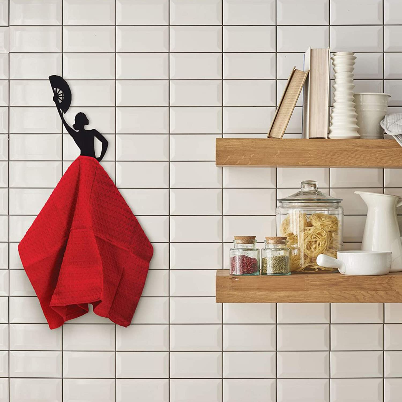 /Negro Metal Cocina Toalla Hanger by Artori Design OL Gancho/