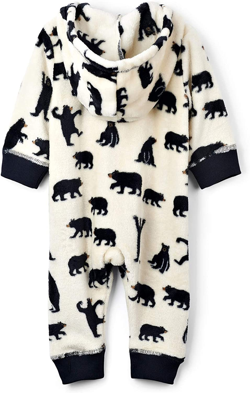 Little Blue House by Hatley Baby-Boys Infant Hooded Fleece Jumpsuit Pajama Set