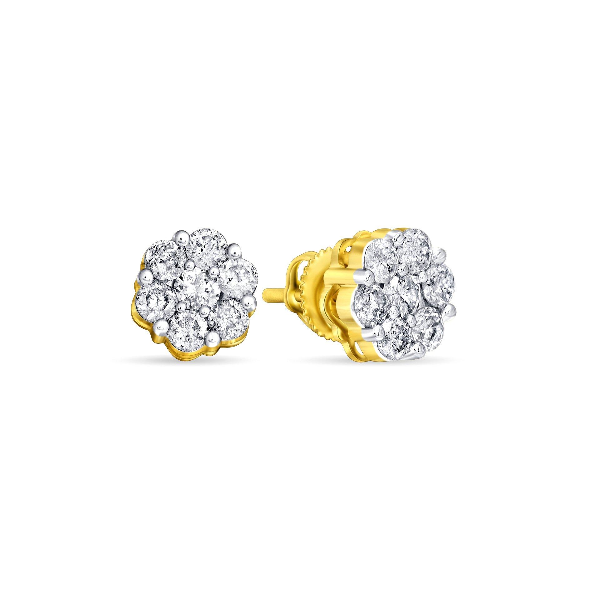 Royal, Rare, Jewel Ivy 10K Gold Diamond Earring Fine Jewelry, Best For Gifting Wife, Girlfriend, Friend
