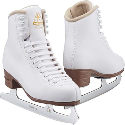 JACKSON ULTIMA Women's Misses Tot's Excel Vinyl Upper Lace Up Light Support Figure Ice Skates