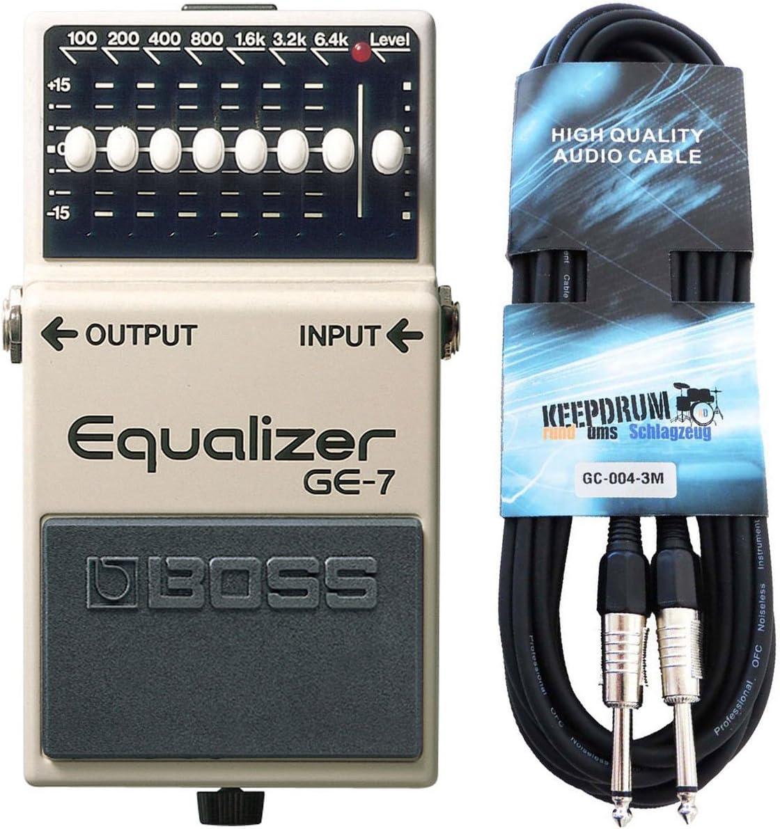 Boss GE de 7graphischer Ecualizador para guitarra Keepdrum Cable para guitarra