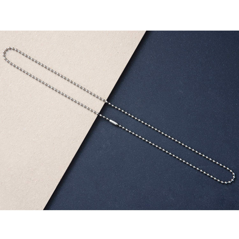 20 Pezzi Regolabile Acciaio Inossidabile Perlina Connettore Fermaglio Palla Catena Collane 2,4 Millimetri 23,62 Pollici