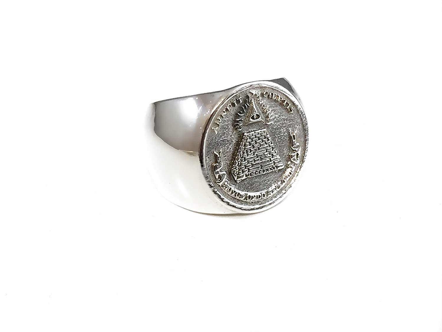 Amazon com: Sterling Silver 925 Masonic Annuit Coeptis