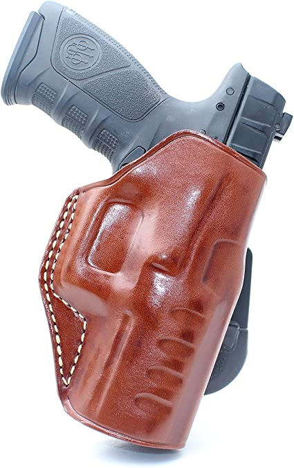 "Leather Pancake Holster Open Top Fits Beretta Apx 9mm 40 Caliber 4.25/""BBL #1285#"