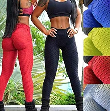 Women/'s Anti-Cellulite Yoga Pants Push Up Leggings Sports Fitness Gym Trousers
