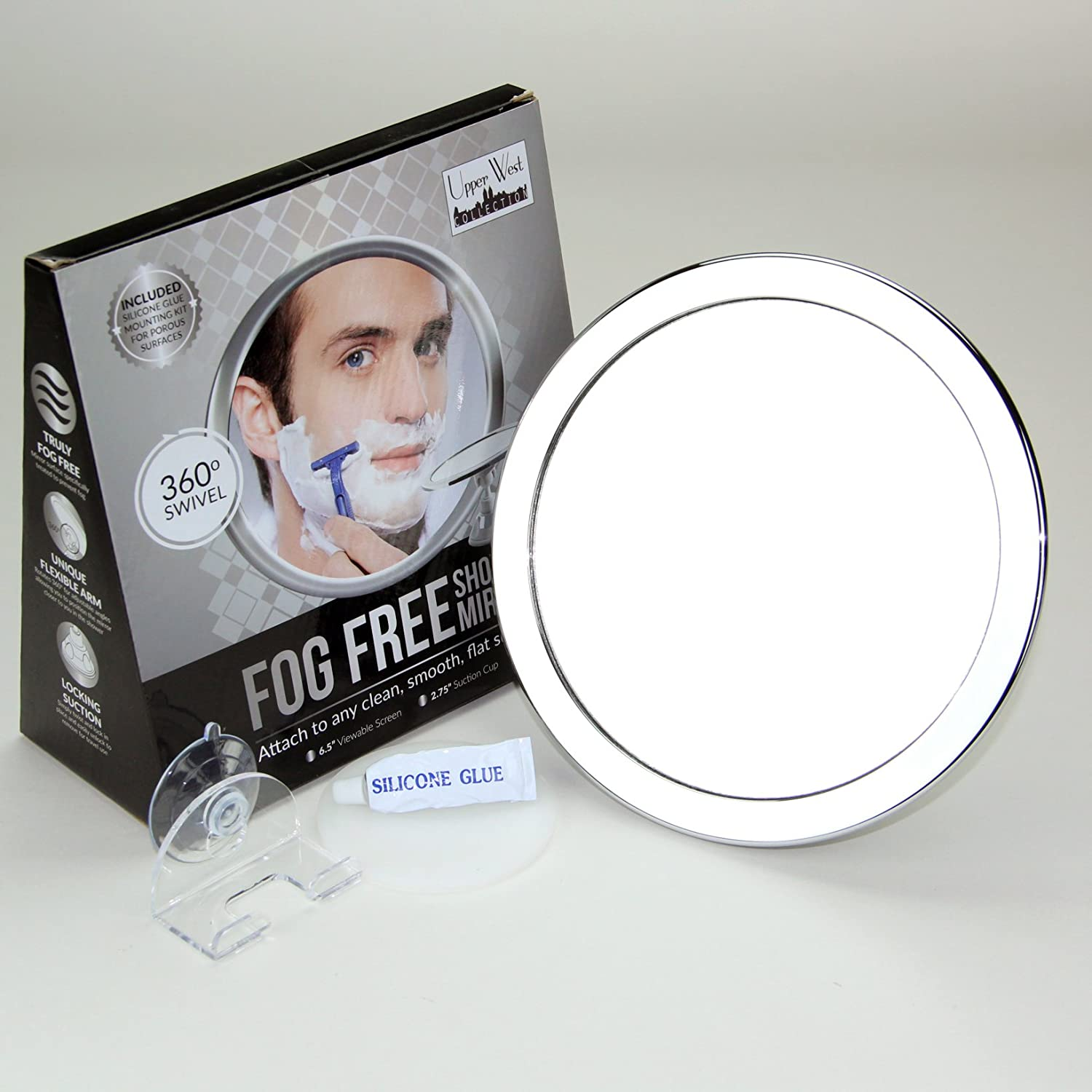 Upper West Collection 2x Magnification Fogless Mirror, 12 Ounce Upper West Companies FS-2X-NR