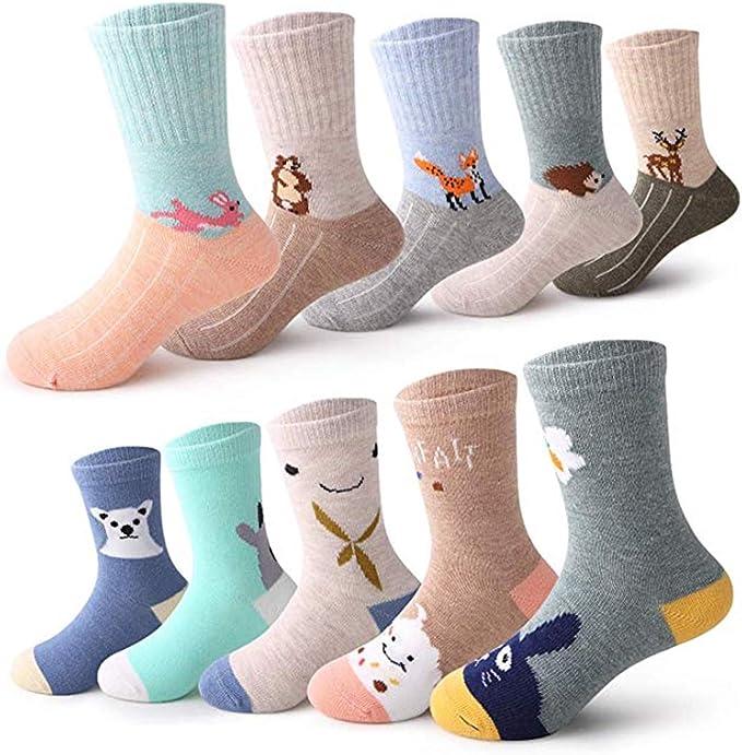 Fen Hantang - 10 pares de bonitos calcetines de algodón para niños conejo 5-7 Años: Amazon.es: Ropa y accesorios