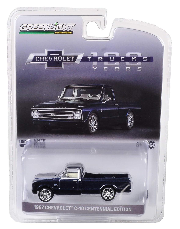 1967 Chevrolet C 10 Performance Centennial Edition Pickup Truck Metallic Dark Blue 1 64 Diecast Model Car by Greenlight 29974